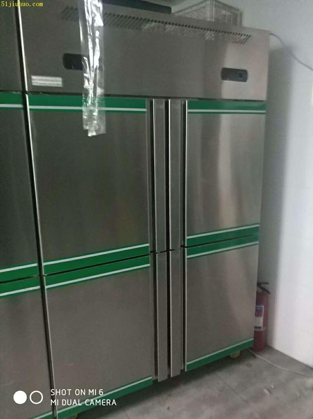 济宁酒店厨房设备回收,空调、冰箱冰柜、制冰机、操作台等整套回收