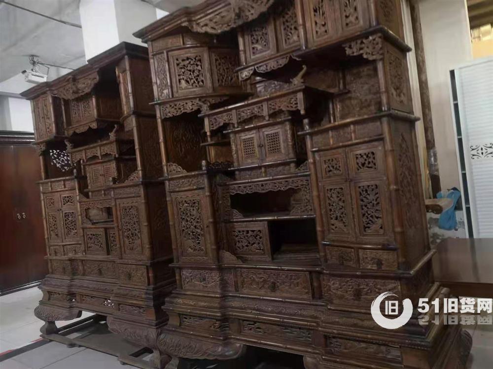 出售仿古家具:多宝格,满雕精品
